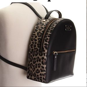 Kate Spade Leopard and Black Backpack